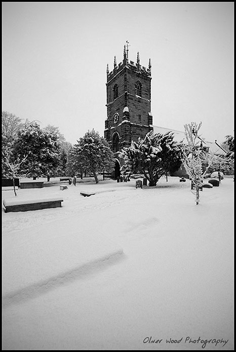 St Peters in snow
