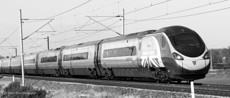 London train at Prestbury